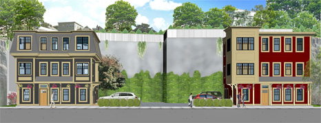 rendering of the Pitman Street Residences, Somerville, MA