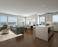rendering of interior of 30B Street, South Boston